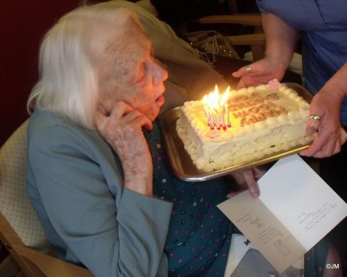 Miss Cox's 100th Birthday - Feb. 2012