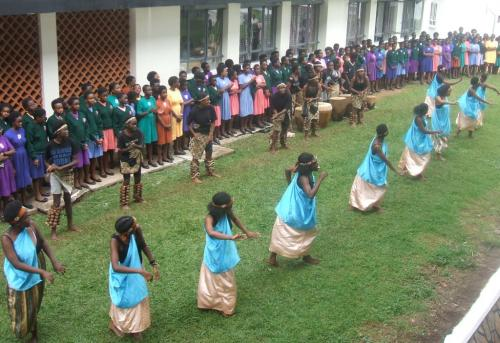 20.Entertainment at new classroom block.