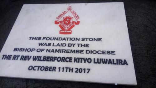 Laying The Foundation Stone - October 2017