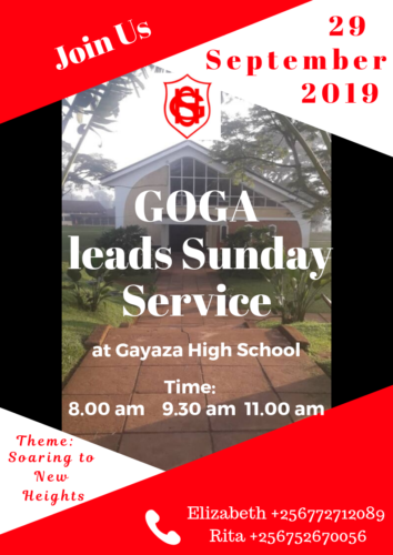 GOGA lead Sunday Service Sept 2019